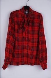 Garde-robe - Blouse - Zwart-rood