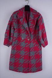 Garde-robe - Mantel - Grijs-roze