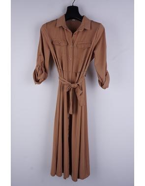 Garde-robe - Lang kleed - Camel