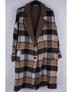 Garde-robe - Mantel - Zwart-beige