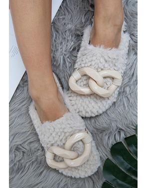 Garde-robe - Pantoffels - Ecru