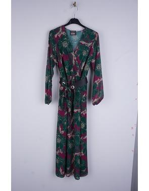 Amelie-amelie - Lang kleed - Groen-paars