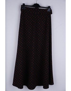 Amelie-amelie - Lange Rok - Zwart-bruin
